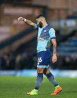 Alex Jakubiak of Wycombe Wanderers leaves the field after his teams loss during the Sky Bet League 2 match between Wycombe Wanderers and Crawley Town at Adams Park, High Wycombe, England on 25 February 2017. Photo by Andy Rowland / PRiME Media Images.