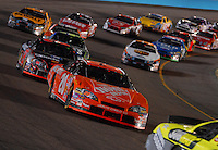 Apr 22, 2006; Phoenix, AZ, USA; Nascar Nextel Cup driver Tony Stewart of the (20) Home Depot Chevrolet Monte Carlo races through traffic during the Subway Fresh 500 at Phoenix International Raceway. Mandatory Credit: Mark J. Rebilas-US PRESSWIRE Copyright © 2006 Mark J. Rebilas.