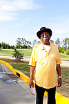 "Charles Bussey, 74, reminisces about the early days of integration at the Augusta Municipal Golf Course, ""The Patch,"" on the day of the African American Golfers Tournament in Augusta, Georgia April 7, 2010. Mr. Bussey caddied at The Masters in 1957 and called The Masters ""the best tournament in the world."""
