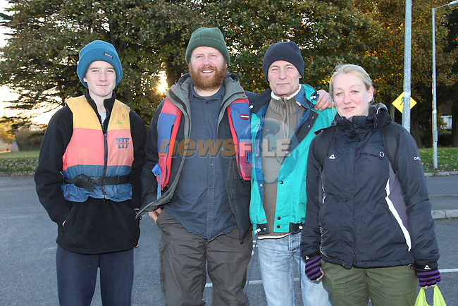 Cormack Cliabh Joe Kirwan Sharon McArdle.heading off on there sponsored walk to Navan for Newgrange Currach Project..Picture: Fran Caffrey/www.newsfile.ie.