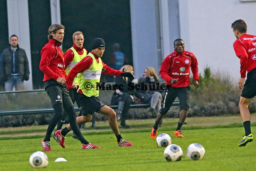 Martin Lanig, Constant Djakpa, Carlos Zambrano (Eintracht)