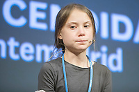 MADRID, SPAIN - DECEMBER 06: Swedish environment activist Greta Thunberg attends the press conference in Madrid because the  COP25 Climate Conference on December 06, 2019 in Madrid, Spain. <br /> Photo ALTERPHOTOS/David Jar/Insidefoto