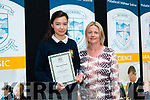 Stephanie Burns pictured with her Year Head teacher Majella Murphy after receiving the Year Head Award.