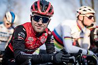 Eli Iserbyt (BEL/Pauwels Sauzen-Bingoal) at the start of the race<br /> <br /> Azencross Loenhout 2019 (BEL)<br />  <br /> ©kramon