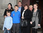 Andrew Fox from LeCheile school who was confirmed at St. Mary's church pictured with his family. Photo: Colin Bell/pressphotos.ie