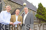 ELECTIONS: Members of the Glenflesk Parish Council examining one of the nomination papers for the elections to the Council, l-r: Denis Murphy, Padraig Cronin, Con Williams.
