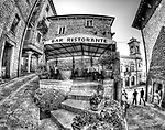Street scene in San Marino, officially the Republic of San Marino and also known as the Most Serene Republic of San Marino, is an enclaved microstate surrounded by Italy on the north-eastern side of the Apennine Mountains. Also available as a standard edit image.