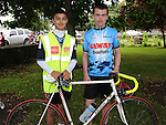 aaron Khan and Enda McKenna who took part in the La Tour de Bog annual Ardee cycle. Photo: Colin Bell/pressphotos.ie