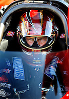 Jul. 17, 2010; Sonoma, CA, USA; NHRA top fuel dragster driver David Grubnic during qualifying for the Fram Autolite Nationals at Infineon Raceway. Mandatory Credit: Mark J. Rebilas-