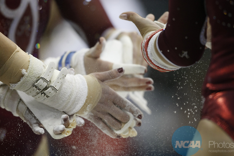 16 APR 2011:   Athletes compete during the Division I Women's Gymnastics Championship held at the Wolstein Center of the Cleveland State University campus in Cleveland, OH.  Jamie Schwaberow/NCAA Photos