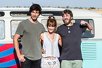 "Spanish actress Silvia Alonso and Spanish actor sSalva Reina and Andres Velencoso during the filming of the movie "" Senor, dame paciencia"" directed by Alvaro Diaz. September 06, 2016. (ALTERPHOTOS/Rodrigo Jimenez) NORTEPHOTO.COM"