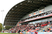 A general view of Highbury Stadium as Fleetwood Town fans enjoy the first half action<br /> <br /> Photographer Rich Linley/CameraSport<br /> <br /> The EFL Sky Bet League One - Fleetwood Town v Oxford United - Saturday 7th September 2019 - Highbury Stadium - Fleetwood<br /> <br /> World Copyright © 2019 CameraSport. All rights reserved. 43 Linden Ave. Countesthorpe. Leicester. England. LE8 5PG - Tel: +44 (0) 116 277 4147 - admin@camerasport.com - www.camerasport.com