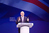 Conservative Party Conference Manchester Great Britain <br /> 5th October 2015 <br /> <br /> Sajid Javid<br /> Secretary of State for Business, Innovation and Skills<br /> keynote speech <br /> <br /> <br /> Photograph by Elliott Franks <br /> Image licensed to Elliott Franks Photography Services
