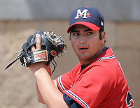 13 April 2008: RHP James Parr (24) of the Mississippi Braves, Class AA affiliate of the Atlanta Braves, in a game against the Mobile BayBears at Trustmark Park in Pearl, Miss. Photo by:  Tom Priddy/Four Seam Images