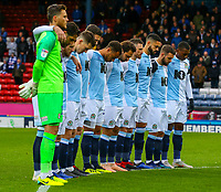 A minutes silence is held before the game to remember Leicester City owner Vichai Srivaddhanaprabha<br /> <br /> Photographer Alex Dodd/CameraSport<br /> <br /> The EFL Sky Bet Championship - Blackburn Rovers v Queens Park Rangers - Saturday 3rd November 2018 - Ewood Park - Blackburn<br /> <br /> World Copyright © 2018 CameraSport. All rights reserved. 43 Linden Ave. Countesthorpe. Leicester. England. LE8 5PG - Tel: +44 (0) 116 277 4147 - admin@camerasport.com - www.camerasport.com