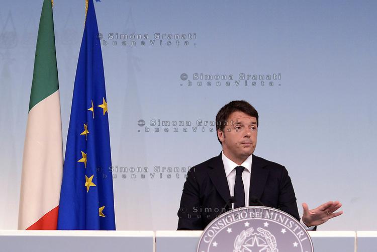 Roma, 31 Luglio 2015<br /> Palazzo Chigi<br /> Conferenza stampa del Presidente del Consiglio Matteo Renzi al termine del consiglio dei Ministri n&deg;76