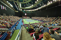 Moskou, Russia, Februari 4, 2016,  Fed Cup Russia-Netherlands, Overall view of the Olympic stadium tennis stands<br /> Photo: Tennisimages/Henk Koster