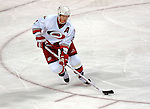 6 February 2007: Carolina Hurricanes defenseman Glen Wesley starts an up-ice rush against the Montreal Canadiens at the Bell Centre in Montreal, Canada. The Hurricanes defeated the Canadiens 2-1.....Mandatory Photo Credit: Ed Wolfstein *** Editorial Sales through Icon Sports Media *** www.iconsportsmedia.com