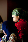 For a Brian Knowlton FF story on Muslim women in the US..USA, Atlanta, GA. 10, NOVEMBER, 2010. Shéshé Todd listens in during an editorial meeting for Azizah: The Voice For Muslim Magazine, a magazine published in Atlanta, Georgia. .. //// KENDRICK BRINSON/LUCEO for the International Herald Tribune