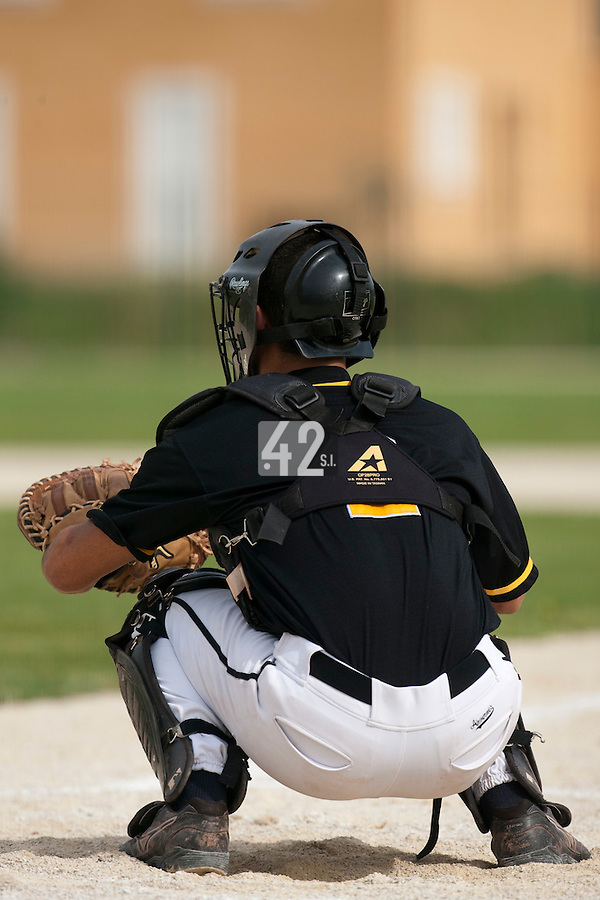 21 May 2009: Ianis Bouteloup of Clermont-Ferrand is seen catching during the 2009 challenge de France, a tournament with the best French baseball teams - all eight elite league clubs - to determine a spot in the European Cup next year, at Montpellier, France.