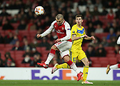 7th December 2017, Emirates Stadium, London, England; UEFA Europa League football, Arsenal versus BATE Borisov; Jack Wilshere of Arsenal heads the ball into the penalty area