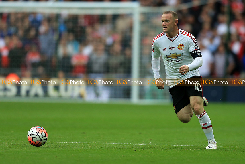 Wayne Rooney of Manchester United during Crystal Palace vs Manchester United, Emirates FA Cup Final Football at Wembley Stadium on 21st May 2016