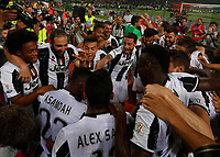Juventes palyers  celebrate after win the Italian Cup Final  football match against Lazio  at  the Olympic stadium in Rome, Italy on the 17th May 2017