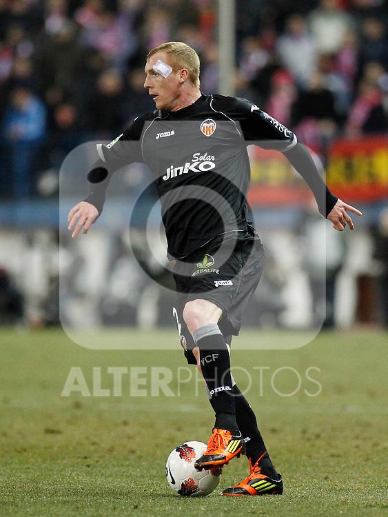 Madrid (05/02/2012) LIGA BBVA.Atletico de Madrid- Valencia C.F....MATHIEU....