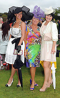 Pictured at the Dawn Dairies Queen of Fashion Ladies Day at Killarney Races were Priscilla and Breda Cronin, Newcastlewest and Michelle Hurley, Killarney.<br /> Picture by Don MacMonagle<br /> <br /> Pr photo from Dawn Daires