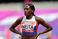 Daryll Neita of Great Britain after competing in the womenís 100 metres during the Muller Anniversary Games at The London Stadium on 9th July 2017