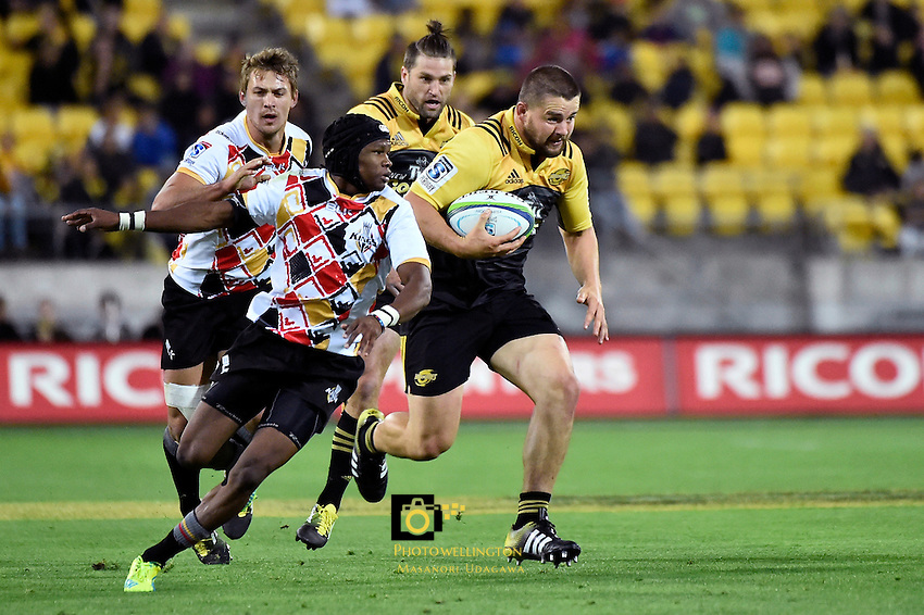 Hurricanes' Dane Coles in action during the Super Rugby - Hurricanes v Southern Kings at Westpac Stadium, Wellington, New Zealand on Friday 25 March 2016.<br /> Photo by Masanori Udagawa. <br /> www.photowellington.photoshelter.com.
