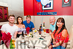 24th Birthday: Niall Foley, Tarbert celebratiing his 24th birthday at Eabha Joan's Restaurant, Listowel on Saturday night last. L-R: Niall Foley, Amie Foley, Jack Fitzgerald & Jer & Mary Foley.