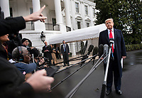 United States President Donald J. Trump speaks to the media as he departs the White House for a day trip to Charlotte, North Carolina in Washington, D.C. on Friday, February 7, 2020. <br /> Credit: Kevin Dietsch / Pool via CNP/AdMedia
