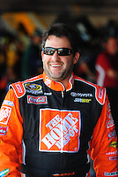 May 30, 2008; Dover, DE, USA; Nascar Sprint Cup Series driver Tony Stewart during practice for the Best Buy 400 at the Dover International Speedway. Mandatory Credit: Mark J. Rebilas-US PRESSWIRE