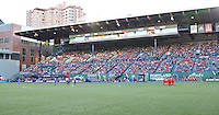 Portland, OR - Sunday July 31, 2016: Portland Thorns, Seattle Reign after a regular season National Women's Soccer League (NWSL) match between the Portland Thorns FC and Seattle Reign FC at Providence Park.