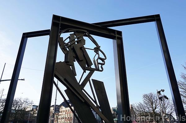 Nederland Den Haag 2018. Monument voor Willem Drees. Danzij deze PVDA politicus werd de AOW ingevoerd. Foto Berlinda van Dam / Hollandse Hoogte