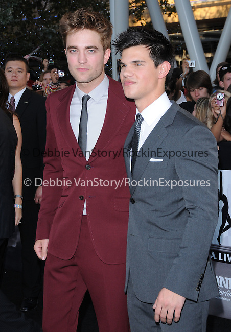Taylor Lautner & Robert Pattinson at the Summit Entertainment's Premiere of The Twilight Saga : Eclipse held at the Los Angeles Film Festival at Nokia Live in Los Angeles, California on June 24,2010                                                                               © 2010 Debbie VanStory / Hollywood Press Agency