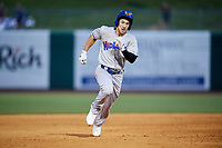 Midland RockHounds third baseman Jordan Tarsovich (5) runs the bases during a game against the Northwest Arkansas Naturals on May 27, 2017 at Arvest Ballpark in Springdale, Arkansas.  NW Arkansas defeated Midland 3-2.  (Mike Janes/Four Seam Images)