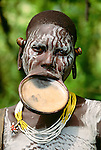 Surma tribeswoman, Murle Region, Ethiopia