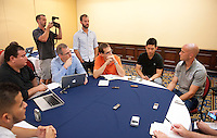 San Jose, Costa Rica - Thursday, September 5, 2013: The USMNT holds a media conference in San Jose before it's WC Qualifying match with Costa Rica.