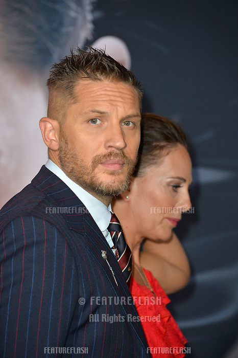 LOS ANGELES, CA. October 01, 2018: Tom Hardy &amp; Kelly Marcel at the world premiere for &quot;Venom&quot; at the Regency Village Theatre.<br /> Picture: Paul Smith/Featureflash