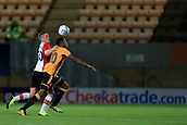 3rd October 2017, The Abbey Stadium, Cambridge, England; Football League Trophy Group stage, Cambridge United versus Southampton U21; Ben Rowthorn of Southampton battles with Jevani Brown of Cambridge United