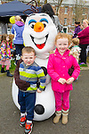 Enjoying the Meadowlands Tralee & Tralee Chamber Alliance Easter Kids Fancy Dress Fun Run at Tralee Town Park on Saturday were Haley and Cody O'Brien from Killeen Woods Tralee with Olaf