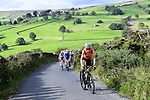 Annemiek van Vleuten of the Netherlands attacks off the fornt of the peloton on the Lofthouse climb during the Women Elite Road Race of the UCI World Championships 2019 running 149.4km from Bradford to Harrogate, England. 28th September 2019.<br /> Picture: Pauline Ballet/SWpix.com | Cyclefile<br /> <br /> All photos usage must carry mandatory copyright credit (© Cyclefile | Pauline Ballet/SWpix.com)