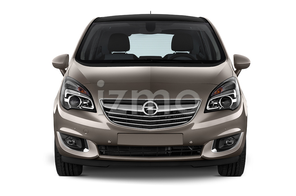 Straight Front View 2014 Opel MERIVA Cosmo 5 Door Mini MPV 2WD Stock Photo