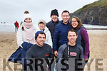 Enjoyed their swim at the annual Connie Hartnett Memorial swim in Ballybunion on New Years Day.<br /> Kneeling l to r: Patrick and Paul Byrne from Abbeyfeale. Standing l to r:  Laura Downes, Nellie and Paddy Byrnes from Abbeyfeale, Michael Reen and Caroline Reen (Glenflesk).