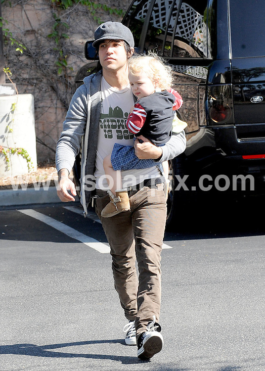 **ALL ROUND EXCLUSIVE PICTURES FROM SOLARPIX.COM**                                             **SYNDICATION RIGHTS FOR UK AND SPAIN ONLY**                                                                                  Caption: Pete Wentz takes his baby boy Bronx, on a trip to Barnes and Noble to get some books in Sherman Oaks. Pete picks up some coffee from Starbucks to take home to his wife Ashlee Simpson. Los Angeles, California, USA. 19 September 2010                                                                           This pic: Pete Wentz                                                                                          JOB REF: 12128 STL       DATE: 19_09_2010                                                           **MUST CREDIT SOLARPIX.COM OR DOUBLE FEE WILL BE CHARGED**                                                                      **MUST AGREE FEE BEFORE ONLINE USAGE**                               **CALL US ON: +34 952 811 768 or LOW RATE FROM UK 0844 617 7637**