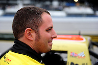 Oct. 30, 2009; Talladega, AL, USA; NASCAR Camping World Truck Series driver Johnny Sauter during qualifying for the Mountain Dew 250 at the Talladega Superspeedway. Mandatory Credit: Mark J. Rebilas-