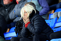 Fleetwood fan upset after Shrewsbury Towns goal during the Sky Bet League 1 match between Shrewsbury Town and Fleetwood Town at Greenhous Meadow, Shrewsbury, England on 21 October 2017. Photo by Leila Coker / PRiME Media Images.