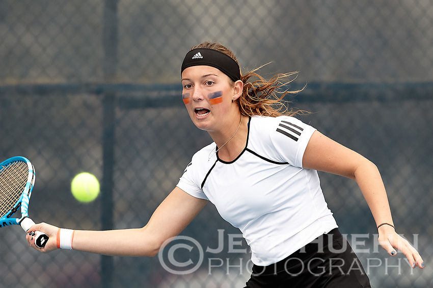 SAN ANTONIO, TX - FEBRUARY 3, 2018: The University of Texas at San Antonio Roadrunners fall to the Sam Houston State University Bearkats 6-1 at the UTSA Tennis Center. (Photo by Jeff Huehn)